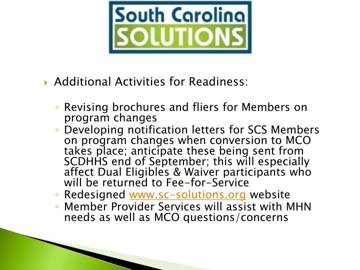 Additional Activities for Readiness: