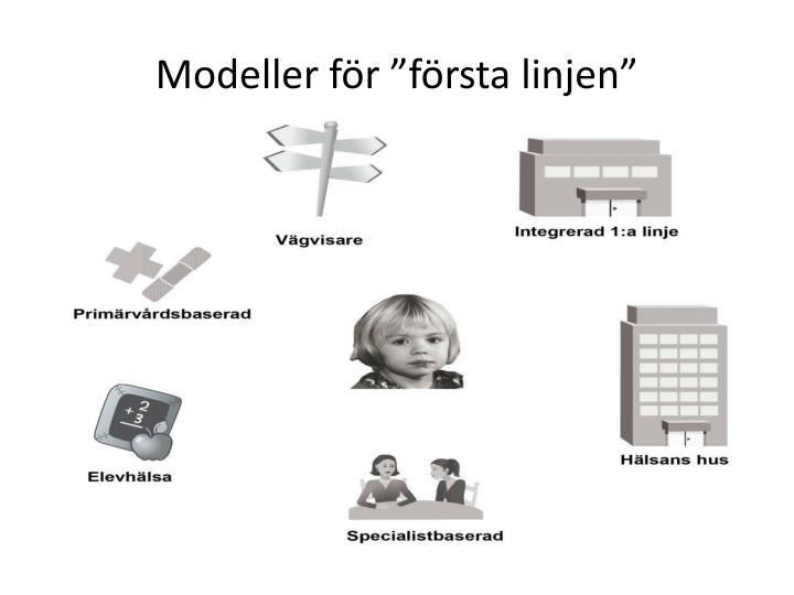 """Modeller för """"första linjen"""""""