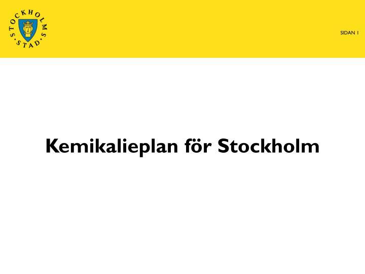 Kemikalieplan för Stockholm