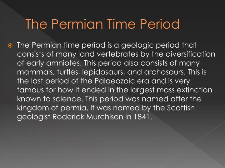 The Permian Time Period