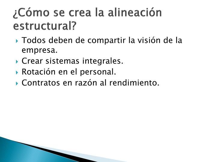 ¿Cómo se crea la alineación estructural?