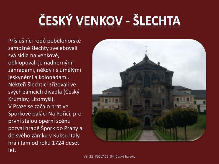 Český venkov - šlechta