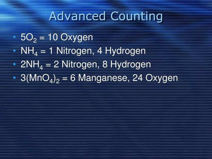Advanced Counting