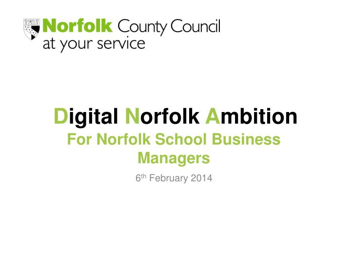 For Norfolk School Business Managers