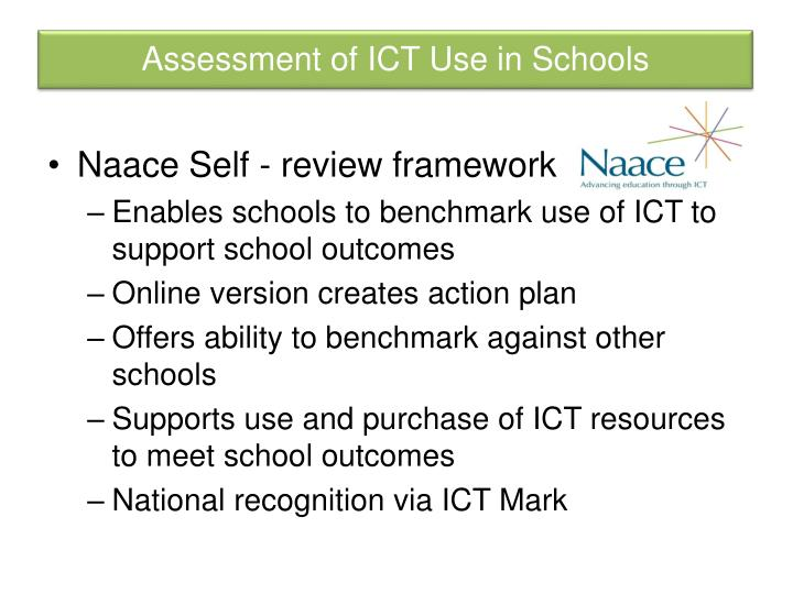 Assessment of ICT Use in Schools
