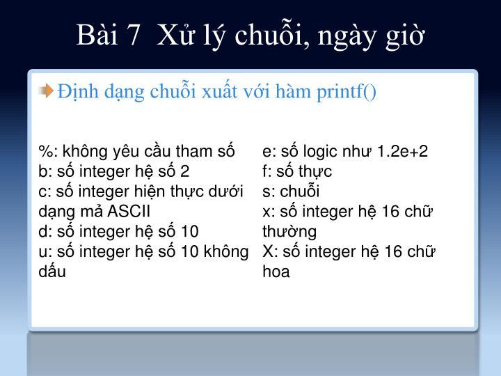 Bài 7  Xử