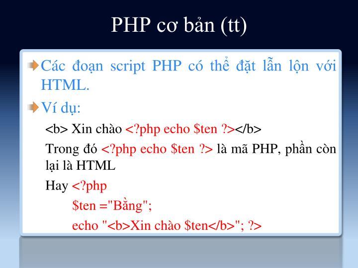 PHP cơ bản (tt)