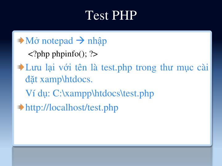 Test PHP