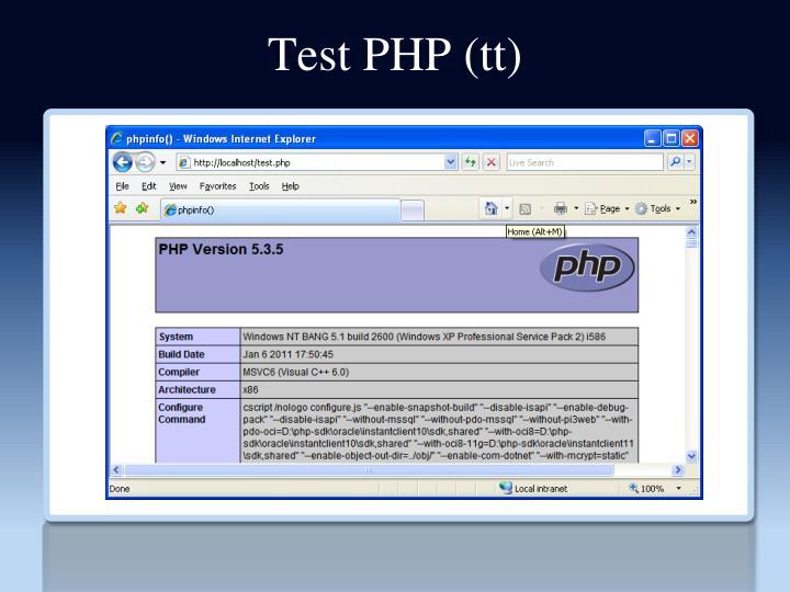 Test PHP (tt)