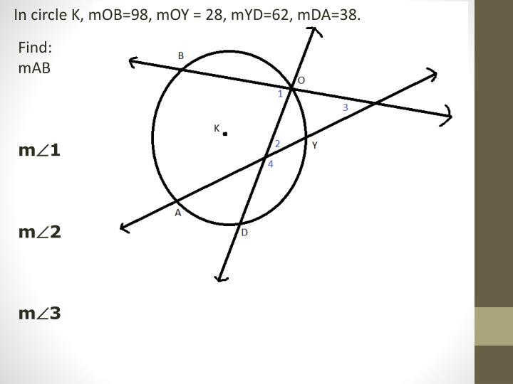 In circle K,