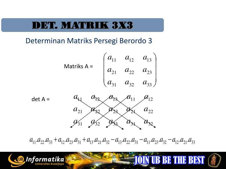 DET. MATRIK 3X3