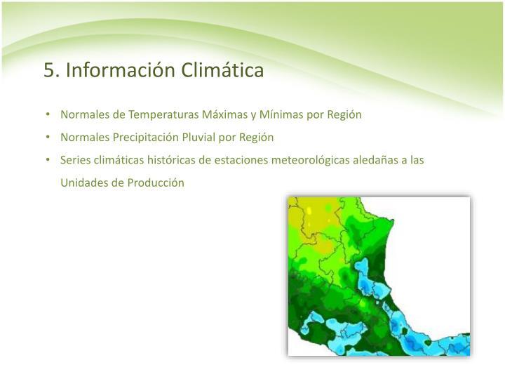 5. Información Climática