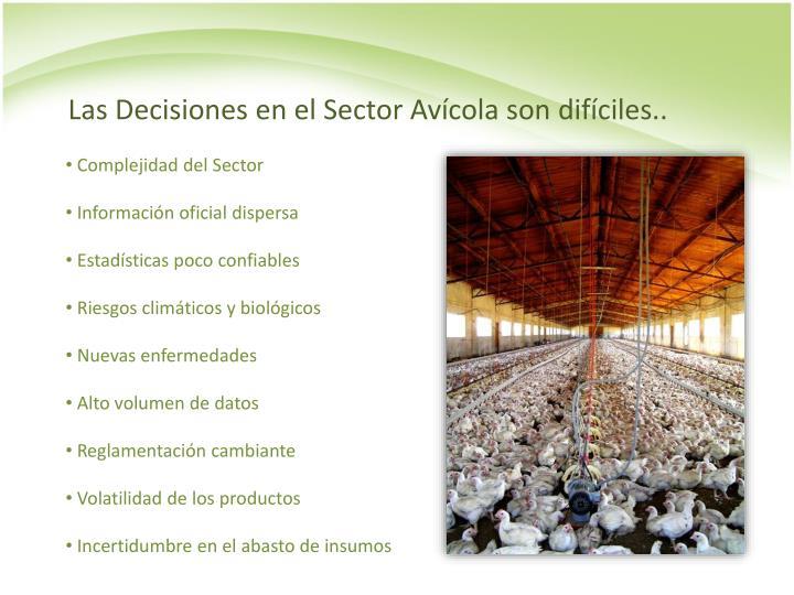 Las Decisiones en el Sector Avícola son difíciles..