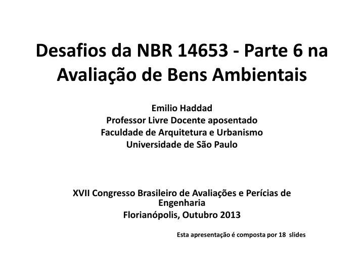 Desafios da NBR