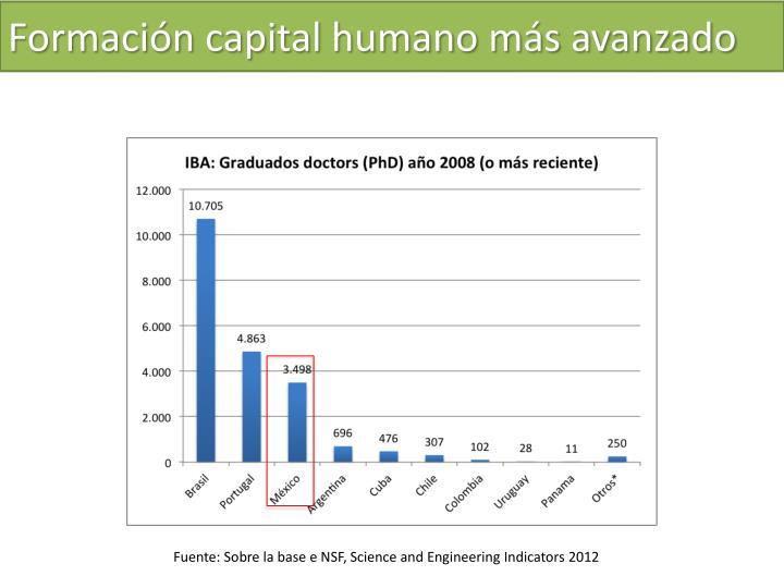 Formación capital humano más avanzado