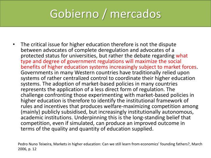 Gobierno / mercados