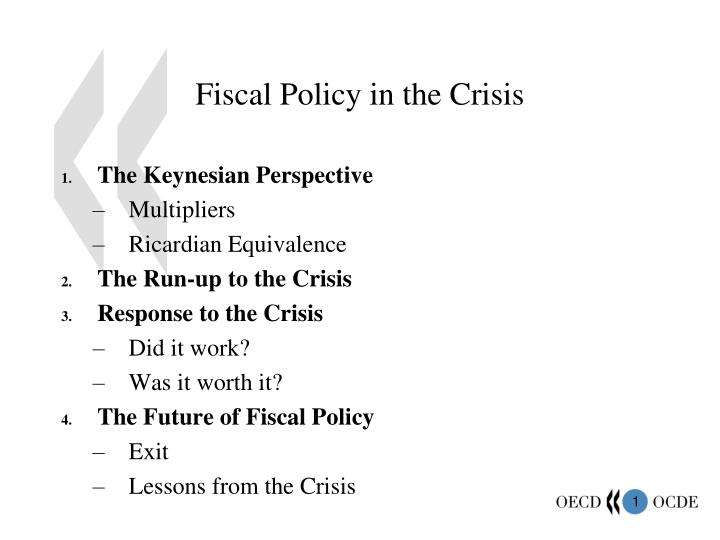 Fiscal policy in the crisis
