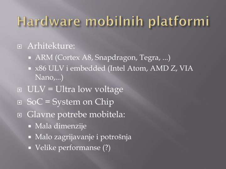 Hardware mobilnih platformi