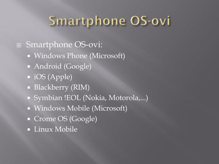 Smartphone OS-ovi