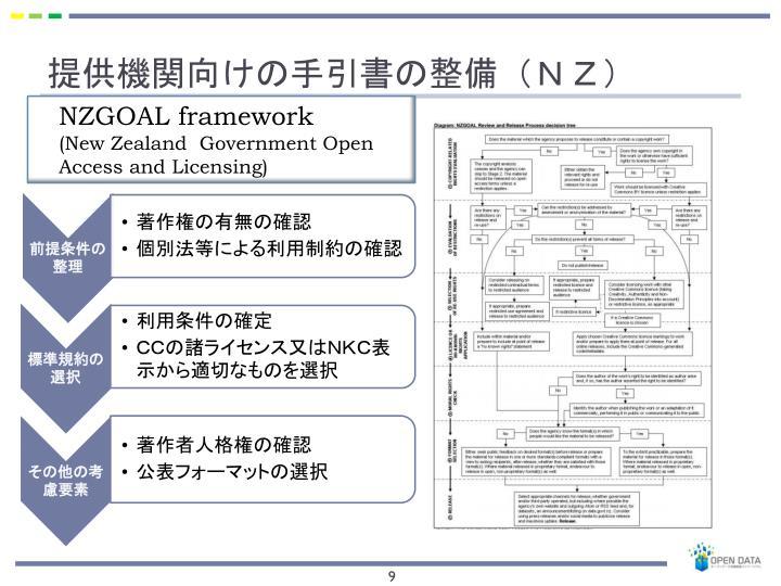 提供機関向けの手引書の整備(NZ)
