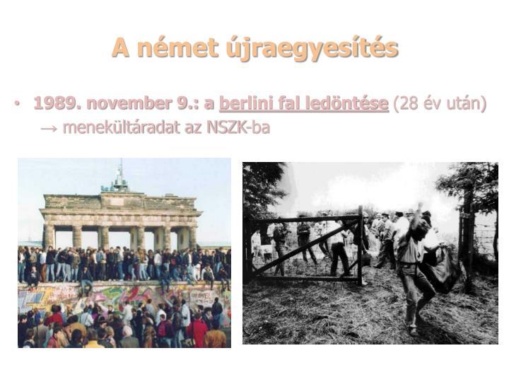A német újraegyesítés