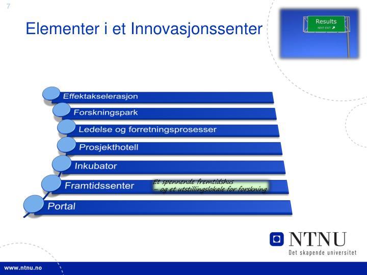 Elementer i et Innovasjonssenter