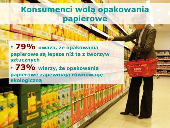 Konsumenci wolą opakowania papierowe