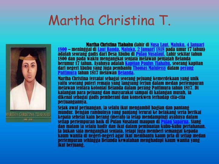 Martha Christina T.