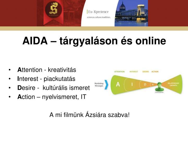 AIDA – tárgyaláson és online