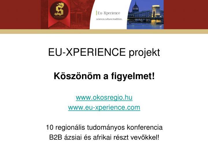 EU-XPERIENCE projekt
