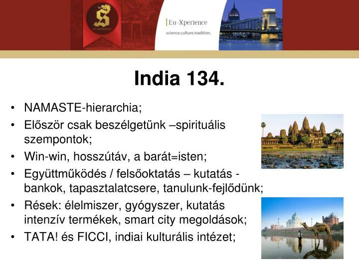 India 134.