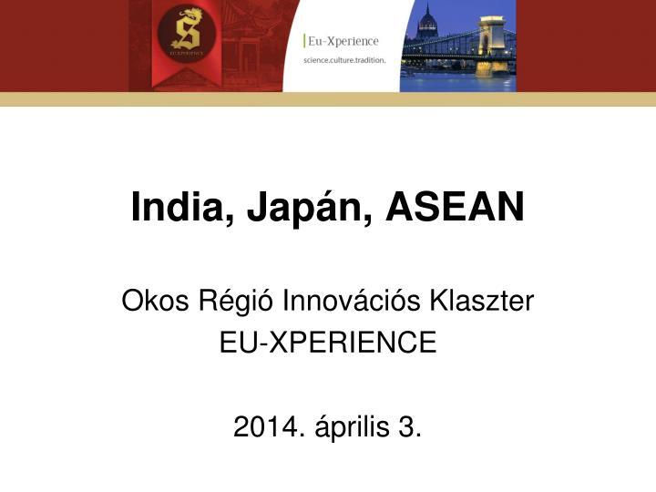 India, Japán, ASEAN