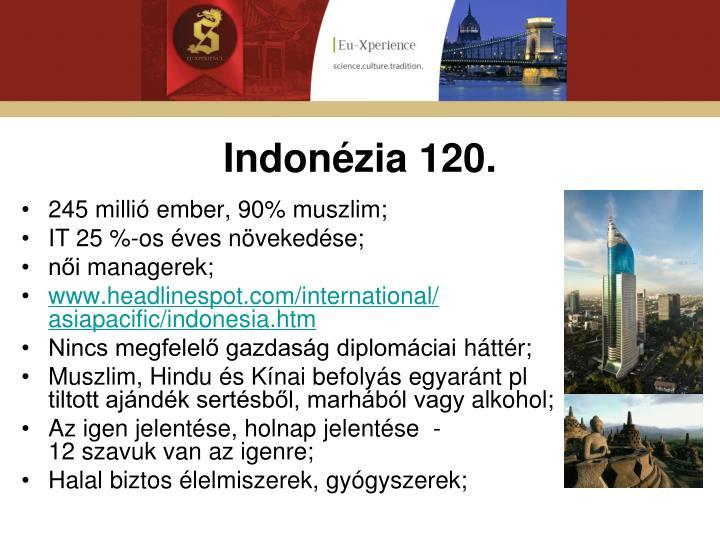 Indonézia 120.
