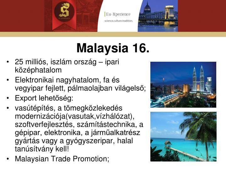 Malaysia 16.