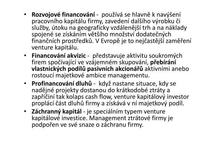 Rozvojové financování