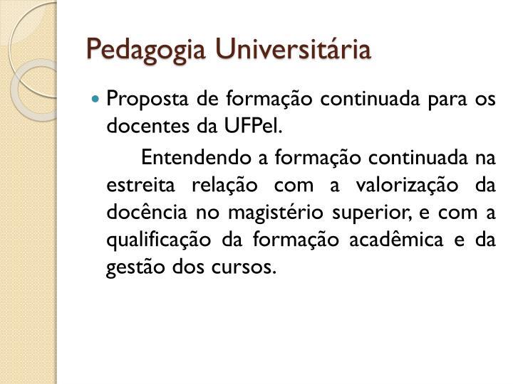 Pedagogia Universitária