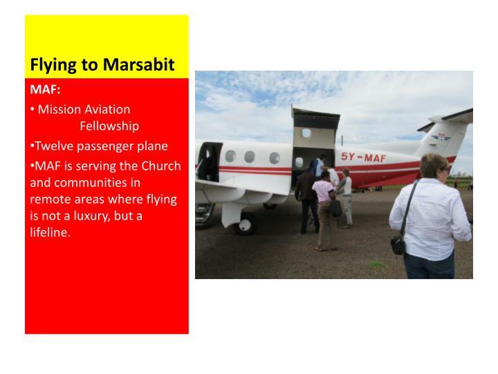 Flying to Marsabit