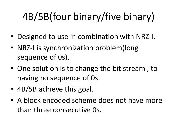 4B/5B(four binary/five binary)