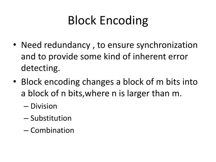 Block Encoding