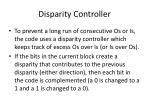 disparity controller