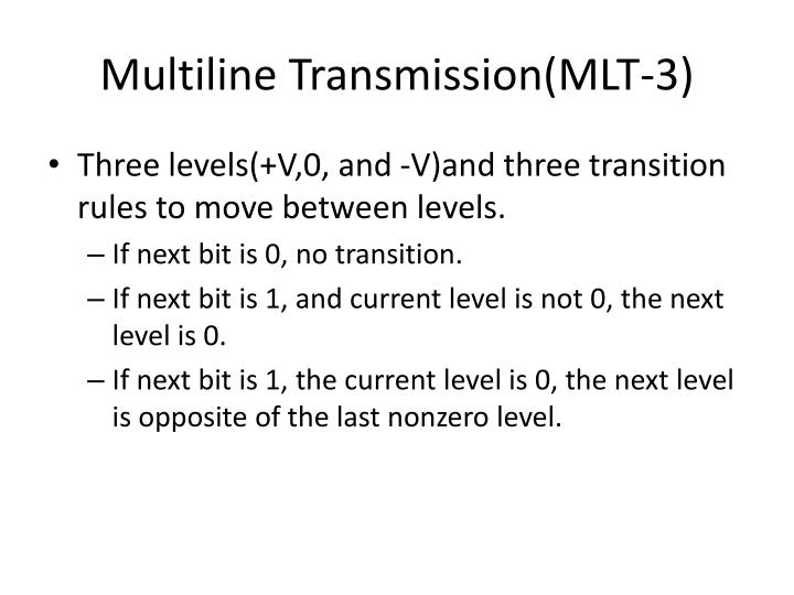 Multiline Transmission(MLT-3)