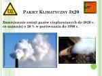 pakiet klimatyczny 3x201