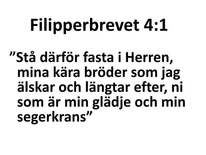 Filipperbrevet 4:1
