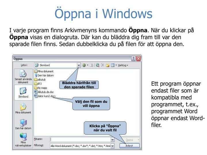 Öppna i Windows