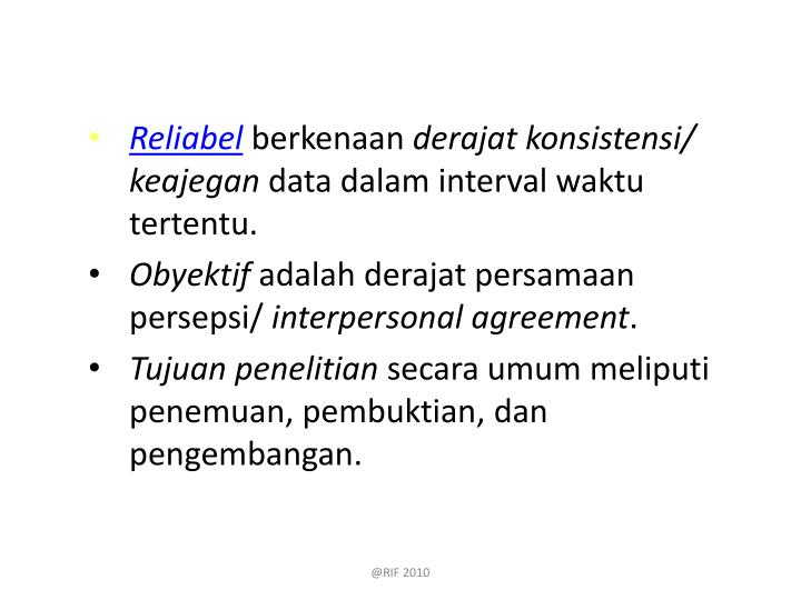 Reliabel