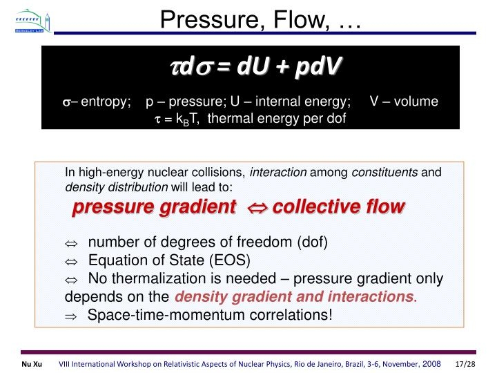 Pressure, Flow, …