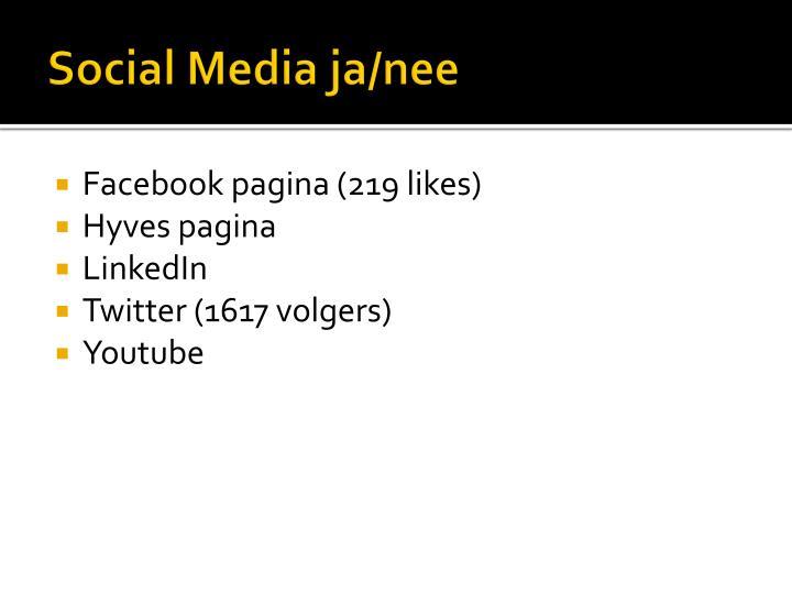 Social Media ja/nee