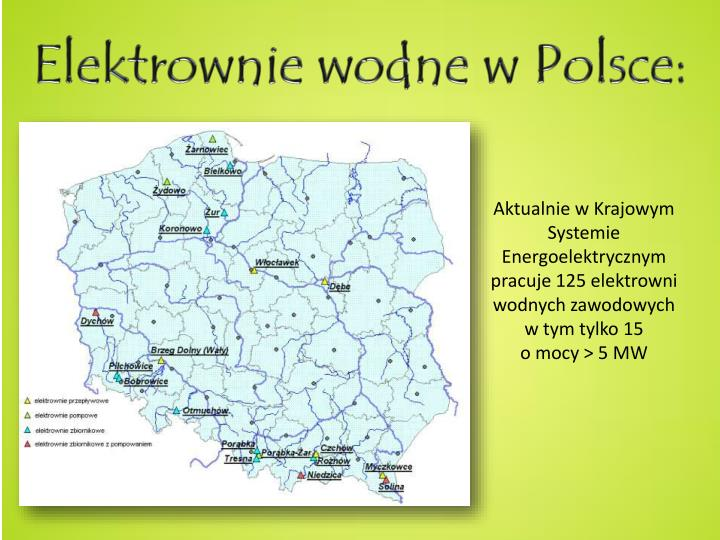 Elektrownie wodne w Polsce: