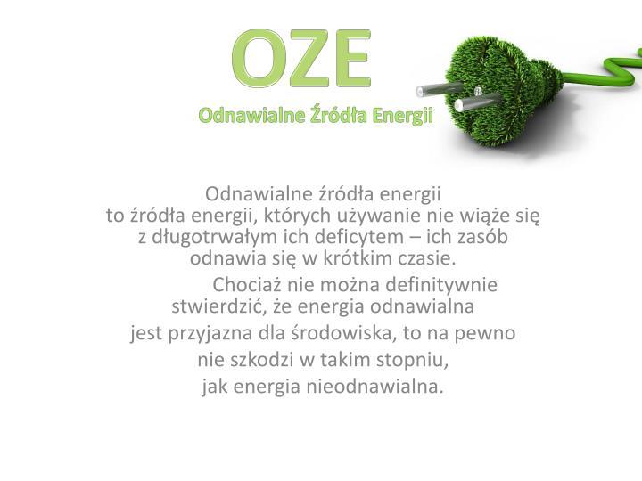 odnawialne r d a energii