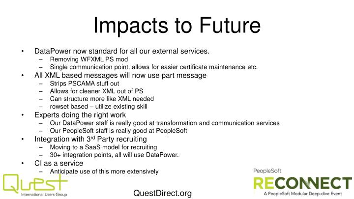 Impacts to Future